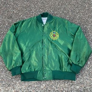 CHICAGO CFD Firefighter Satin Bomber Jacket XL